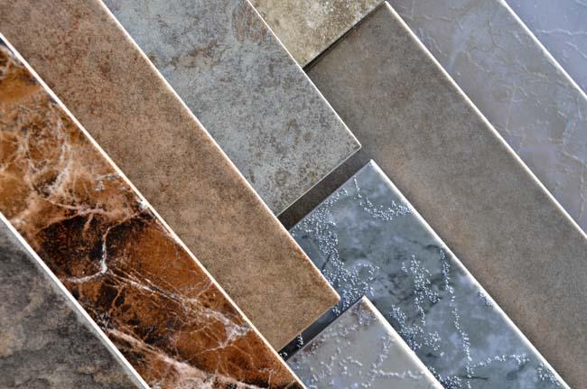 различные виды поверхностей плитки