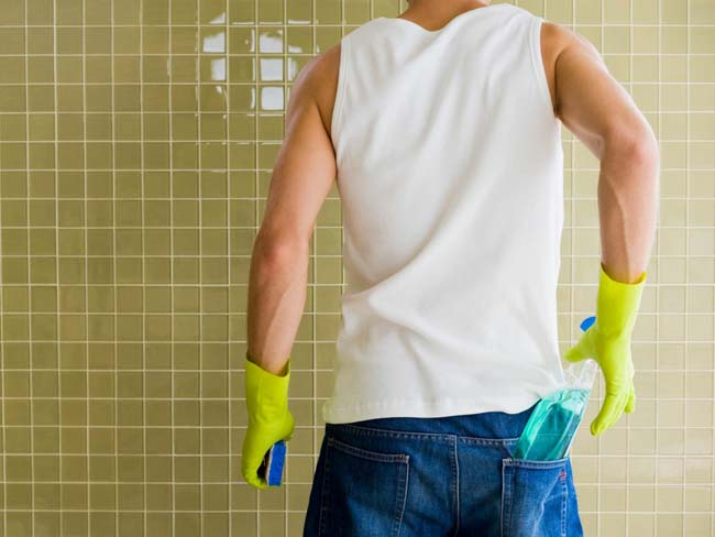 попытка отмыть плитку доступными средствами