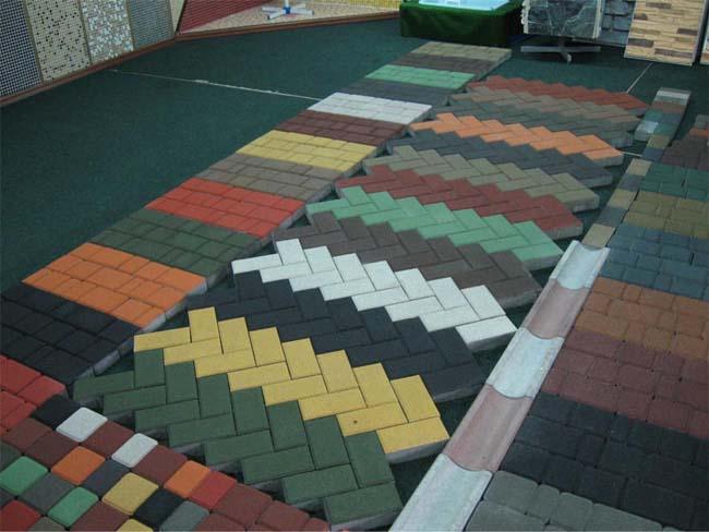 вибролитая тротуарная плитка разных цветов