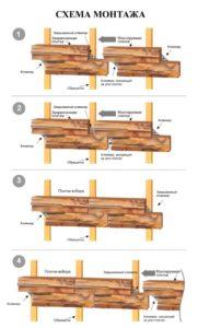 схема монтажа плитки с кляммерами на фасад