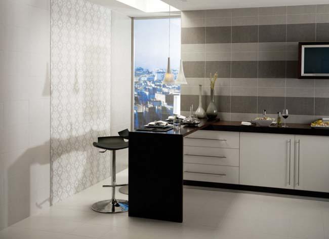матовая поверхность плитки идеально подойдет для кухни