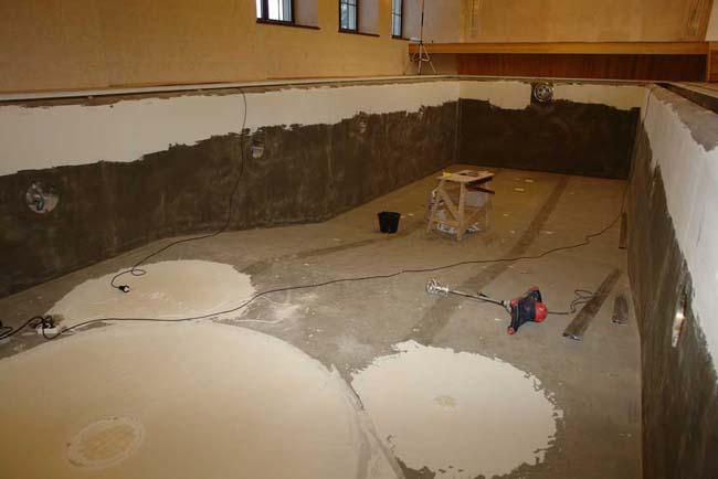 подготовка чаши бассейна