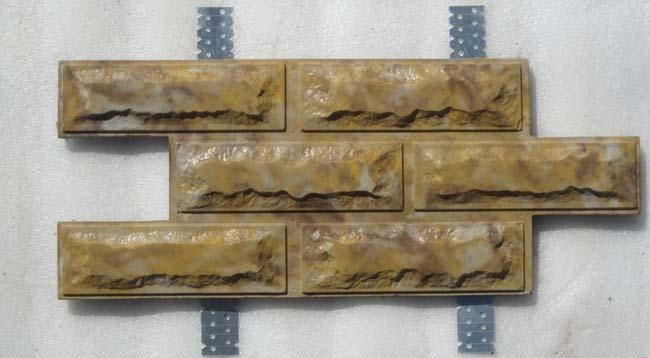 образец фасадной плитка с кляммерами