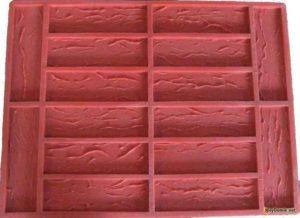 силиконовая формочка для заливки кирпича из гипса