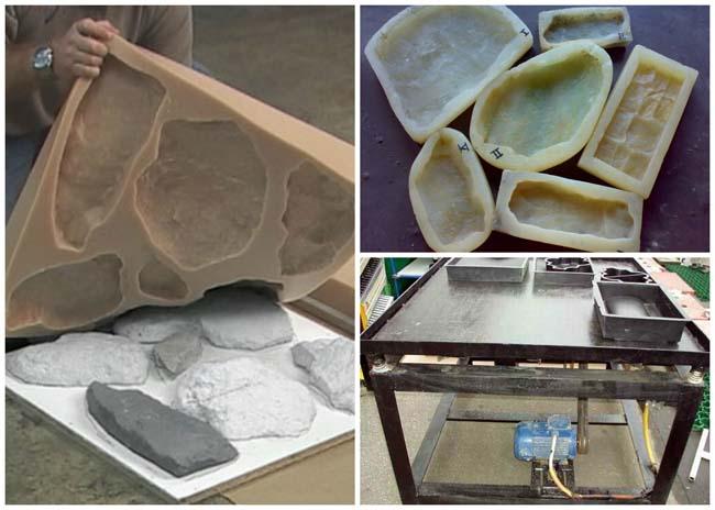силиконовые формы для изготовления бетонной плитки
