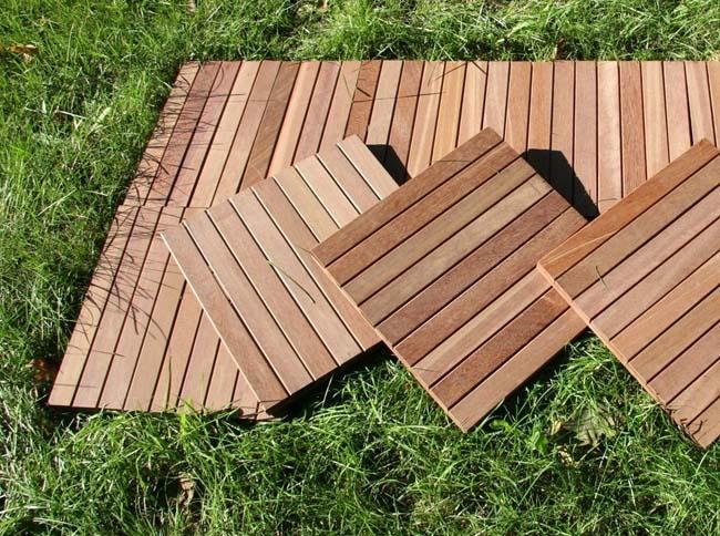 садовый паркет, красиво и практично