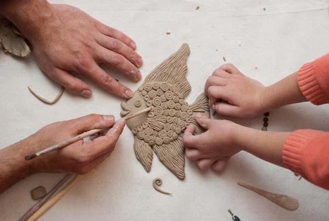 рыбка из глины своими руками