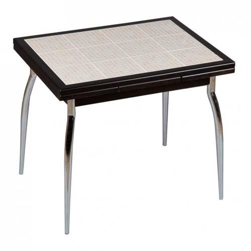 стол с металлическим основанием со столешницей из мозаики