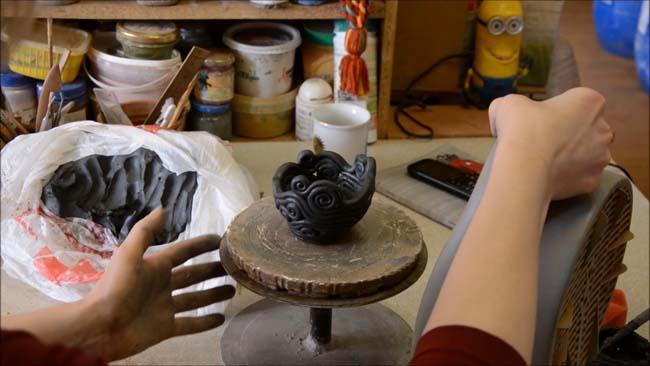 техника лепки изделия из глиняного жгута