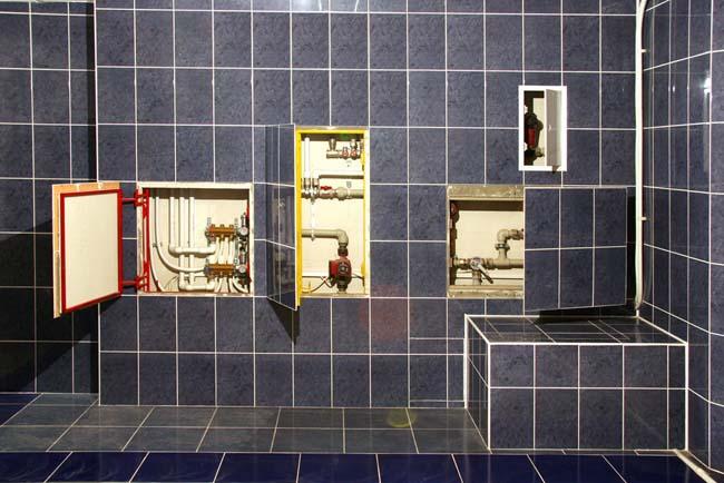варианты установки ревизионных люков в туалете