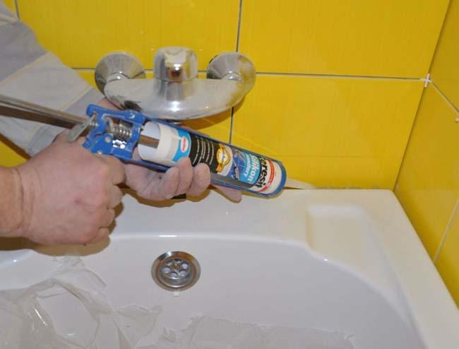 герметизация швов вокруг ванной