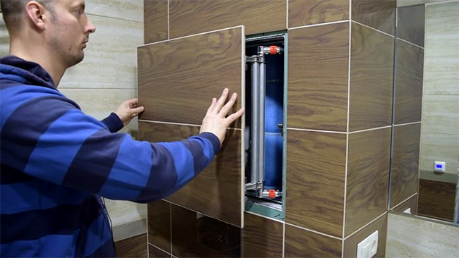скрытый люк в туалете, качественная установка
