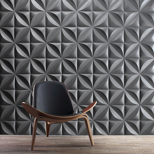 декоративная бетонная плитка на стене