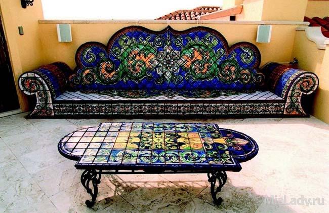 мебель декорированная мозаикой