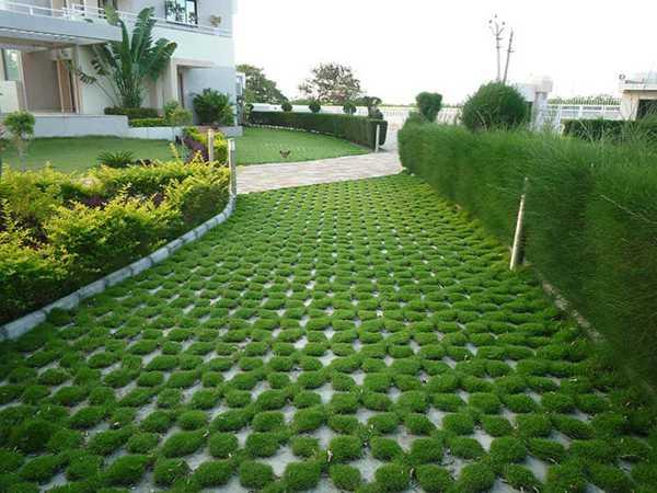 плитка тротуарная для газона